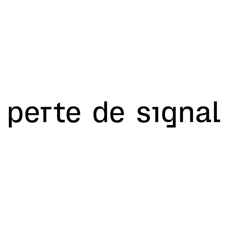 Perte de signal logo dark