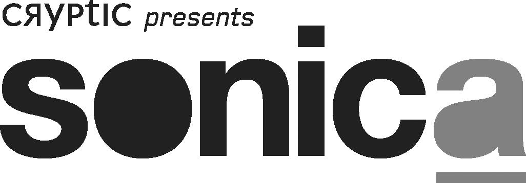 Sonica Cryptic logo dark